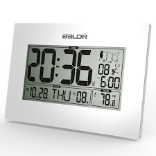 Desk Alarm Clock Aliexpress Com Buy Baldr Wwvb Atomic Digital Alarm Clock Pmce