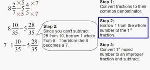 how to subtract fractions with borrowing math wonderhowto