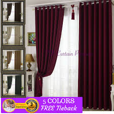 Sheer Maroon Curtains Blockout Fabric Curtain Green Coffee Beige Brown Maroon Drapes
