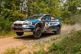 subaru america higgins subaru make it 7 for 7 in rally america