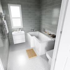 L Shaped Bathroom Vanity by Best 25 L Shaped Bath Ideas On Pinterest Modern Shower