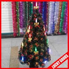 decorated ornament pine artificial christmas tree with led lights