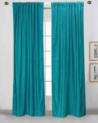 Green Curtain Pole Rod Pocket Curtains Drapes Panels Pole Top Drapery