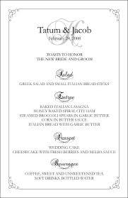 wedding menu template wedding menu template 5