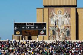 notre dame wrapping paper minimalist notre dame stadium s designs