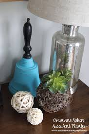 diy grapevine sphere succulent planter inspiration made simple