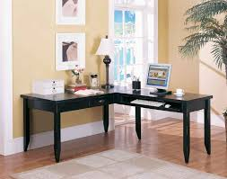 White L Shaped Desk With Hutch Mesmerizing Design Ideas Using L Shaped Black Wooden Desks Include
