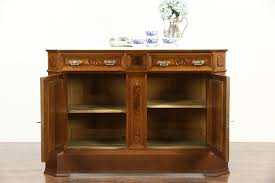 Marble Top Sideboards And Buffets Sold Victorian 1880 Antique Marble Top Walnut Sideboard Server