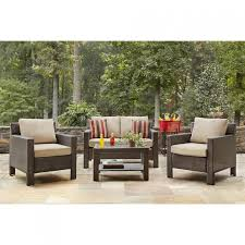 Home Depot Patio Chair Cushions Hton Bay Beverly 4 Patio Seating Set With Beverly