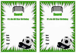 soccer birthday invitations u2013 birthday printable