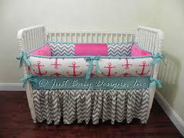 Custom Girls Bedding by Custom Nautical Baby Bedding Set Chauna Baby Bedding