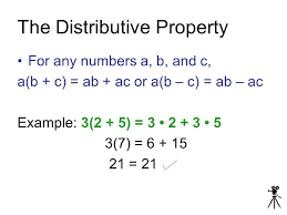 the distributive property 1 5 objective students will use the