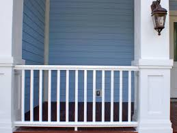 Painting A Cement Patio by How To Install A Porch Railing Hgtv