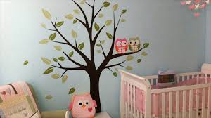 Owl Wall Sticker Butterfly Bird Owl Tree Removable Vinyl Decal Wall Stickers Kid