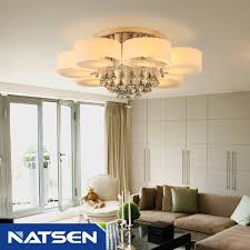 Crystal Ceiling Mount Light Fixture by Natsen Crystal Ceiling Light Metal Flush Mount Ceiling Light