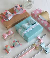 bow wrapping paper bow templates in four sizes
