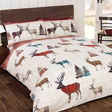 Christmas Duvet Cover Sets Woodland Stag Double Us Full Christmas Duvet Cover And Pillowcase