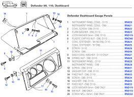 defender dashboard dash electrical gauges switches trim parts