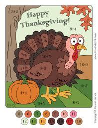 Thanksgiving Color By Number Tim Van De Vall Comics U0026 Printables For Kids