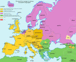 The Map Of Europe by European Maps Showing Origins Of Common Words Business Insider