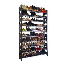 Walmart Shoe Storage Bench Ktaxon 10 Tier Shoe Rack Tower For 50 Pair Wall Bench Shelf Closet