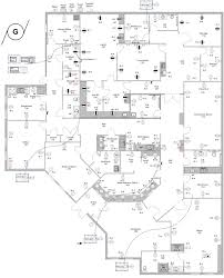 floor plan of office building electrical designs to visualize the safety of city buildings