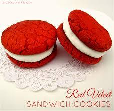 red velvet sandwich cookies lindsay ann bakes