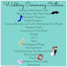 layout of wedding ceremony program wedding ceremony outline wedding ceremony outline ceremony