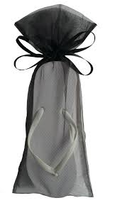 flip flop bag classic white flip flop with black organza bags my party saver