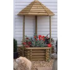 wooden garden wishing well planter wood projects pinterest