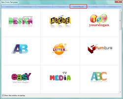 letter logo design maker how to select a template in sothink logo