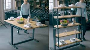 table converts to shelf swing convertible table shelf dudeiwantthat com