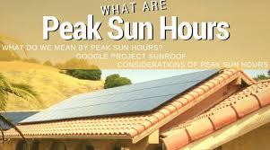 what does peak sun hours the solar advantage