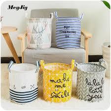 chagne baskets 27 23cm linen foldable waterproof storage basket change clothes