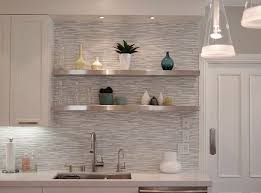 kitchen shelves ideas the stylish glass wall shelves for your home and how to maintain