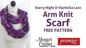 arm knit starbella lace u0026 starry night ribbon yarn scarf right