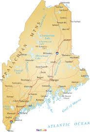 State Of Maine Map by Maine Map Blank Political Maine Map With Cities