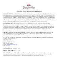 nursing instructor cover letter training advisor cover letter