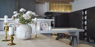 Kitchen Table Top Design Leks Architects Kiev Apartment Accessorized Dining Table Top With