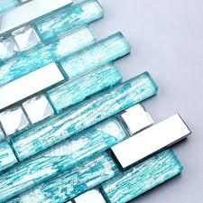 Stainless Steel Mosaic Tile Backsplash by Steel Backsplash Blue Glass Mosaic Tiles Kitchen Back Splash Cheap