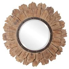 Classy Mirrors by Hawthorne Rustic Wood Round Mirror 35
