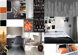 chambre ado style york planche tendance pour l aménagement d une chambre d ado dans un