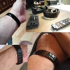 black link bracelet images Vnox punk healthy energy bracelet men black chain link bracelet jpg