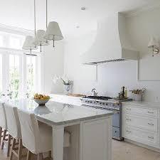 White Kitchen Backsplash Tile by White Kitchen With Blue Subway Backsplash Tiles Transitional