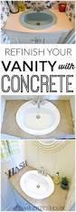 Resurface Vanity Top Refinished Concrete Vanity Top