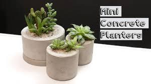 concrete mini planters becky stern youtube