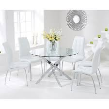 Dining Table For 4 White Round Dining Table And 4 Chairs Starrkingschool