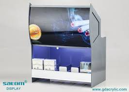 Display Cabinet With Lighting Vivid Poster Acrylic Cigarette Display Cabinet With Built In Lighting