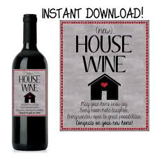 New House Gift House Warming Gift New Home Gift House Warming Wine Label