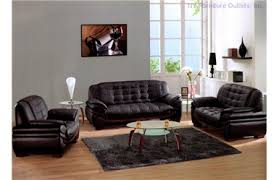 Contemporary Black Leather Sofa Sofas And Sets Modern Living Room Furniture Contemporary